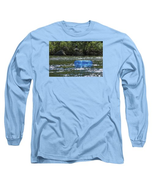 Blue Floaty - Inner Tube On The River Long Sleeve T-Shirt by Jane Eleanor Nicholas