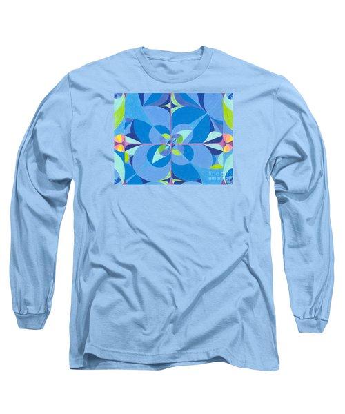 Blue Unity Long Sleeve T-Shirt by Kim Sy Ok