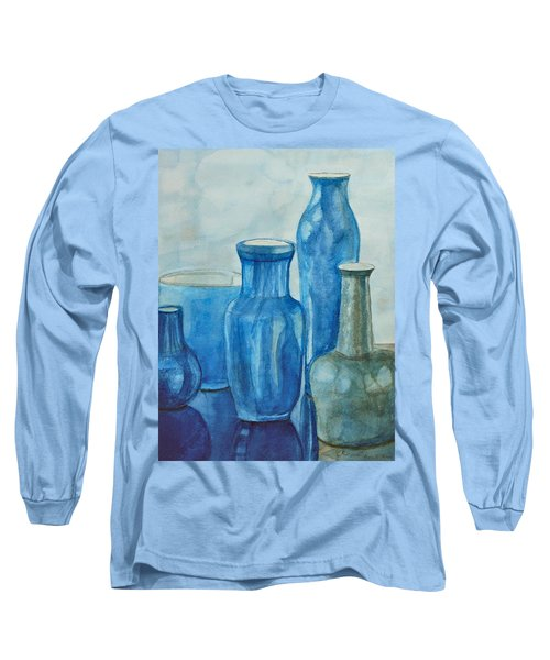 Blue Vases I Long Sleeve T-Shirt