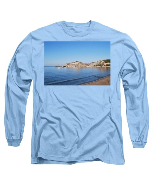 Long Sleeve T-Shirt featuring the photograph Blue Water by George Katechis