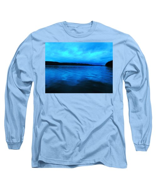 Blue Water In The Morn  Long Sleeve T-Shirt
