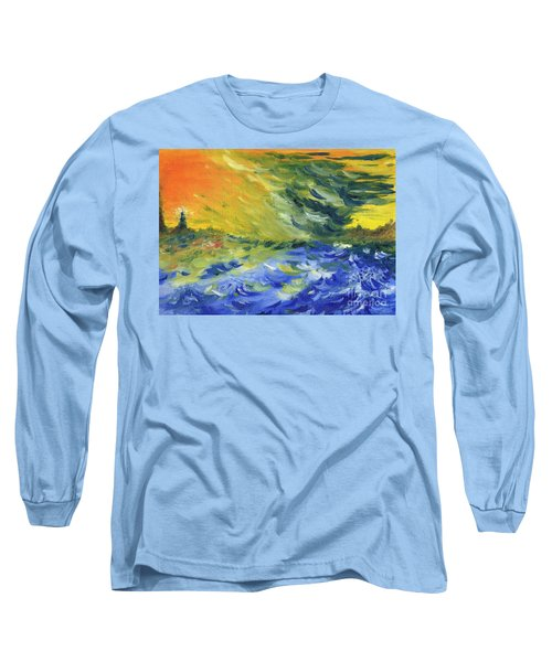 Blue Waves Long Sleeve T-Shirt