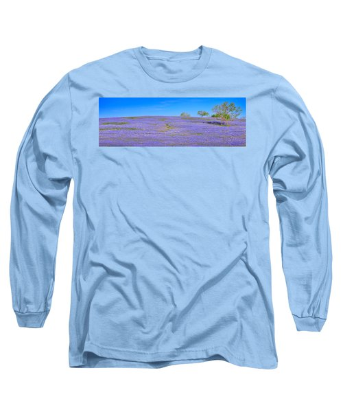 Long Sleeve T-Shirt featuring the photograph Bluebonnet Vista Texas  - Wildflowers Landscape Flowers  by Jon Holiday