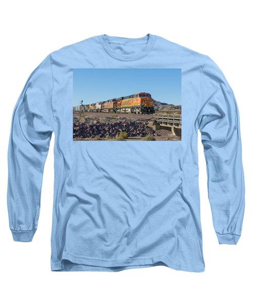 Bnsf 7649 Long Sleeve T-Shirt by Jim Thompson
