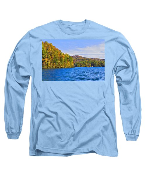 Boating In Autumn Long Sleeve T-Shirt
