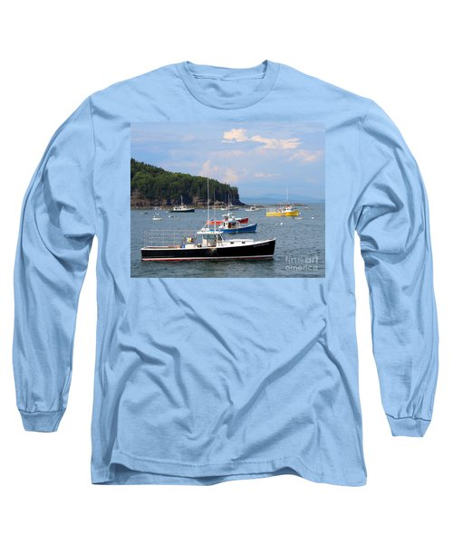 Boats In Bar Harbor Long Sleeve T-Shirt