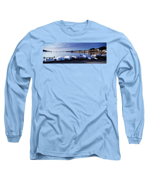 Boats On The Beach, Instow, North Long Sleeve T-Shirt