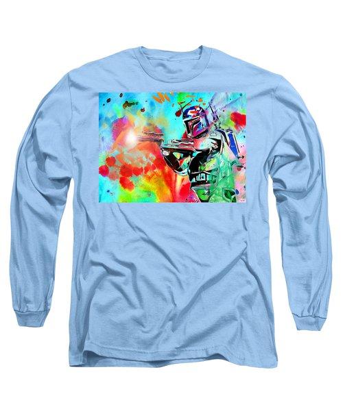 Boba Fett Star Wars Long Sleeve T-Shirt by Daniel Janda