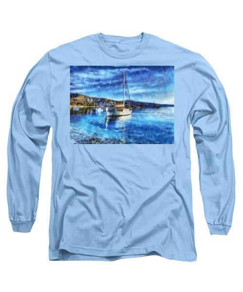 Bodrum Bay In Turkey Long Sleeve T-Shirt