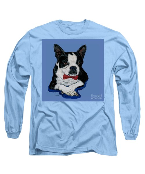 Boston Terrier With A Bowtie Long Sleeve T-Shirt