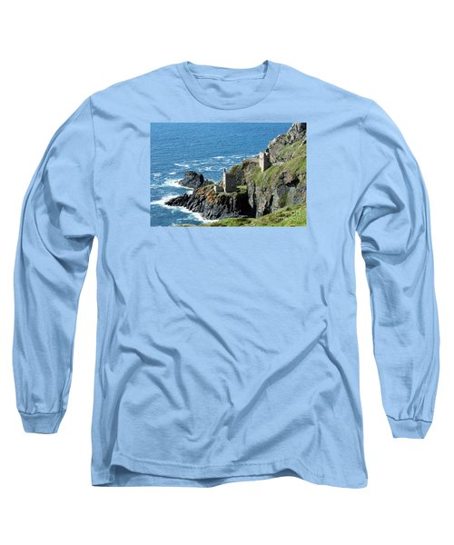 Botallack Crown Engine Houses Cornwall Long Sleeve T-Shirt