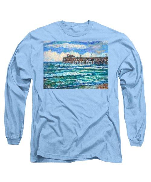 Breakers At Pawleys Island Long Sleeve T-Shirt by Kendall Kessler