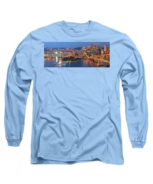 Bridge To The Pittsburgh Skyline Long Sleeve T-Shirt