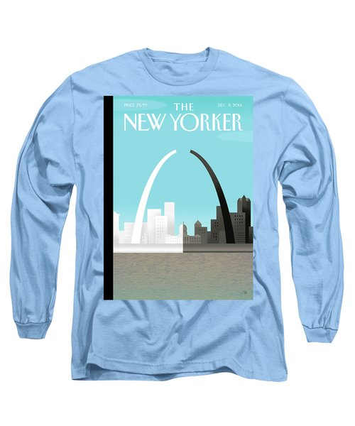 Broken Arch. A Scene From St. Louis Long Sleeve T-Shirt