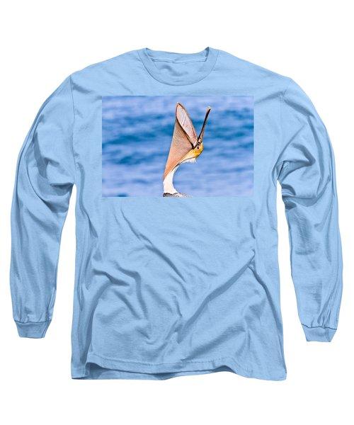 Brown Pelican - Head Throw Long Sleeve T-Shirt