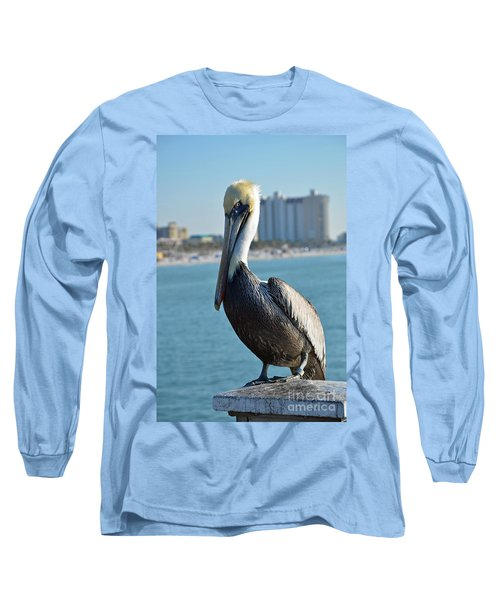 Long Sleeve T-Shirt featuring the photograph Brown Pelican by Robert Meanor
