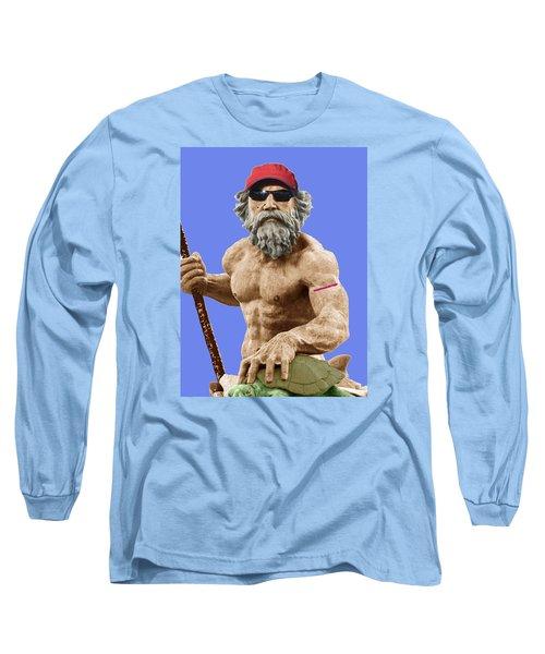 Bubba Neptune Long Sleeve T-Shirt by Mark Alder