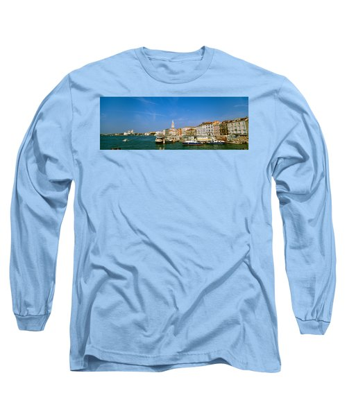 Buildings Along A Canal With A Church Long Sleeve T-Shirt