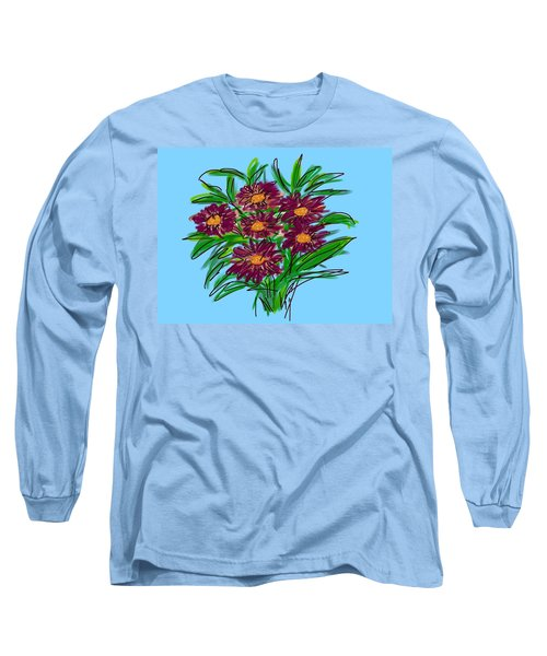 Long Sleeve T-Shirt featuring the digital art Bunch Of Daisies by Christine Fournier
