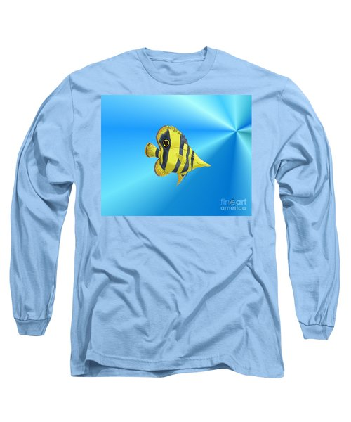 Long Sleeve T-Shirt featuring the digital art Butterfly Fish by Chris Thomas