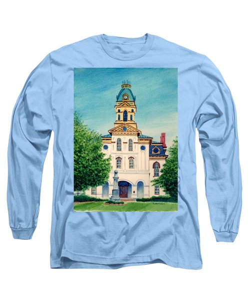 Cabarrus County Courthouse Long Sleeve T-Shirt by Stacy C Bottoms