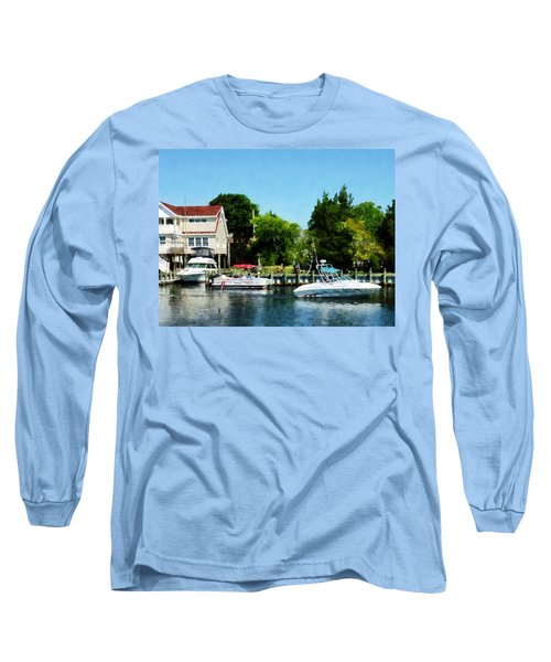 Long Sleeve T-Shirt featuring the photograph Cabin Cruisers by Susan Savad