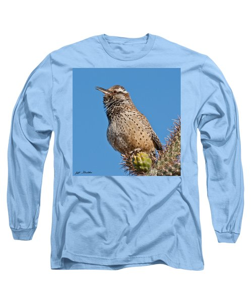 Cactus Wren Singing Long Sleeve T-Shirt