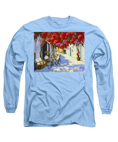 Cafe Long Sleeve T-Shirt by Alexandra Maria Ethlyn Cheshire