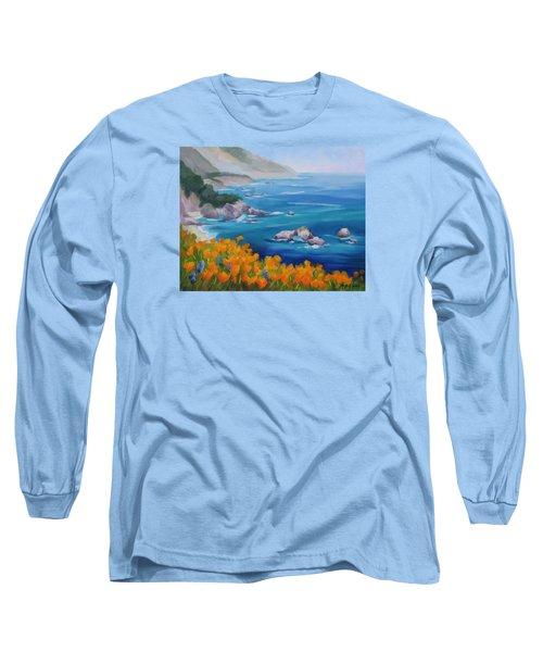 California Poppies Big Sur Long Sleeve T-Shirt