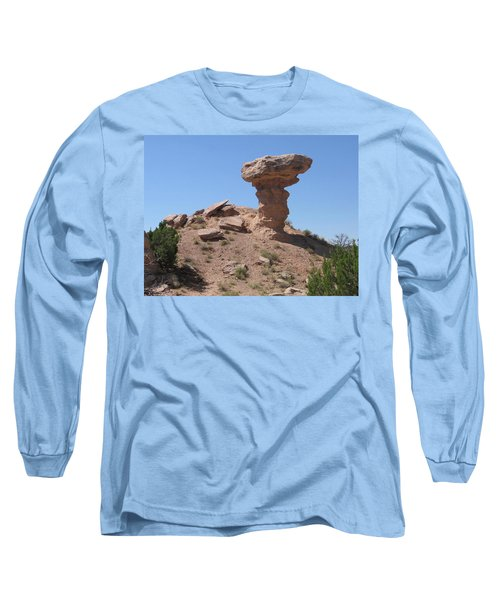 Long Sleeve T-Shirt featuring the photograph Camel Rock - Natural Rock Formation by Dora Sofia Caputo Photographic Art and Design