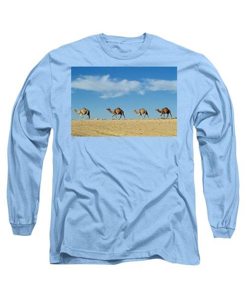 Camel Train Long Sleeve T-Shirt