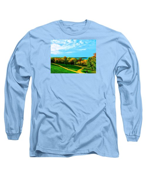 Campus Fall Colors Long Sleeve T-Shirt by Zafer Gurel
