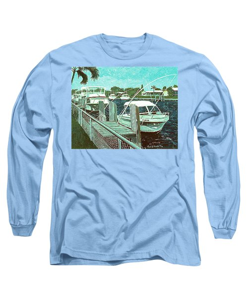Canal At Pompano Long Sleeve T-Shirt