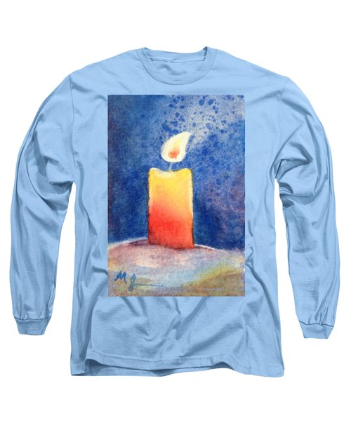 Candle Glow Long Sleeve T-Shirt by Marilyn Jacobson