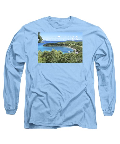 Long Sleeve T-Shirt featuring the photograph Caneel Bay by Carol  Bradley