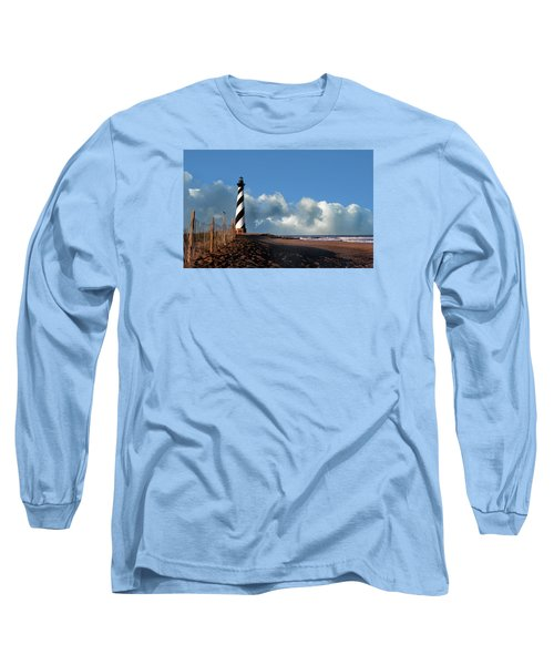 Cape Hatteras Lighthouse Nc Long Sleeve T-Shirt by Skip Willits