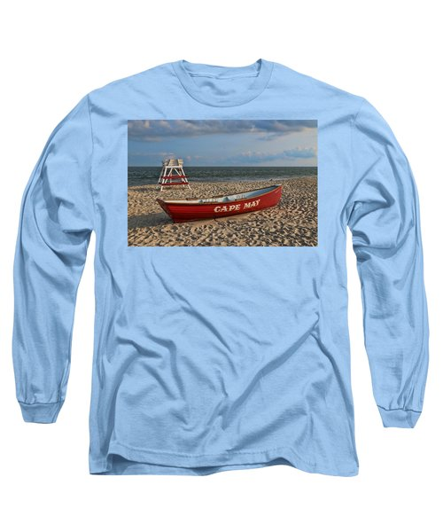 Cape May N J Rescue Boat Long Sleeve T-Shirt