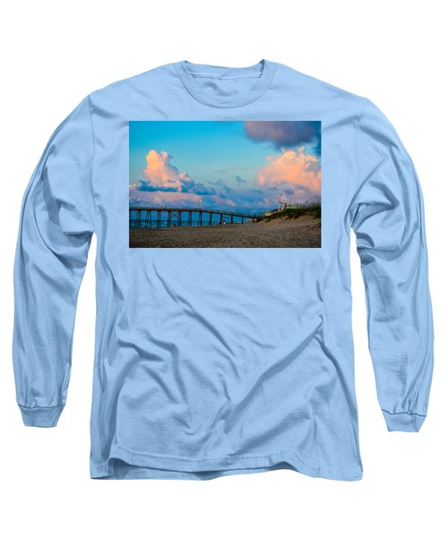 Carolina Blue Over Kure Beach Long Sleeve T-Shirt