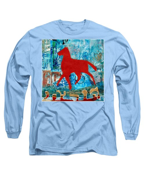 Carousel Long Sleeve T-Shirt by Patricia Cleasby