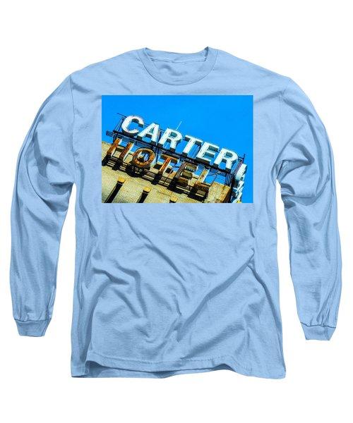 Carter Hotel Sign Long Sleeve T-Shirt