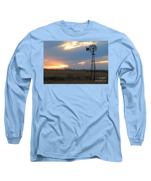 Catching The Wind In South Dakota Long Sleeve T-Shirt