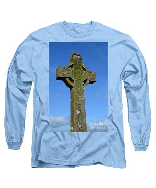 Celtic Stone Cross In Ireland Long Sleeve T-Shirt
