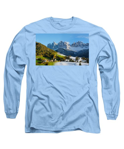 Change Of Season With Fall Turning Into Winter Long Sleeve T-Shirt