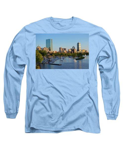Charles River At Sunset Long Sleeve T-Shirt