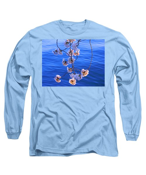 Cherry Blossoms Hanging Over Tidal Basin Long Sleeve T-Shirt