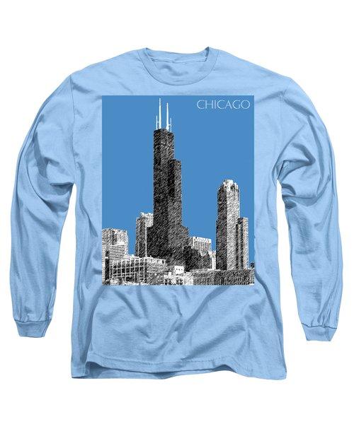 Chicago Sears Tower - Slate Long Sleeve T-Shirt
