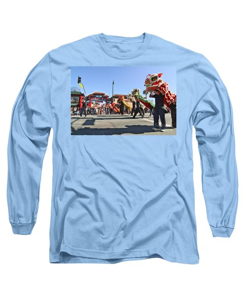Chinese New Year Parade In Chinatown Of Los Angeles California. Long Sleeve T-Shirt
