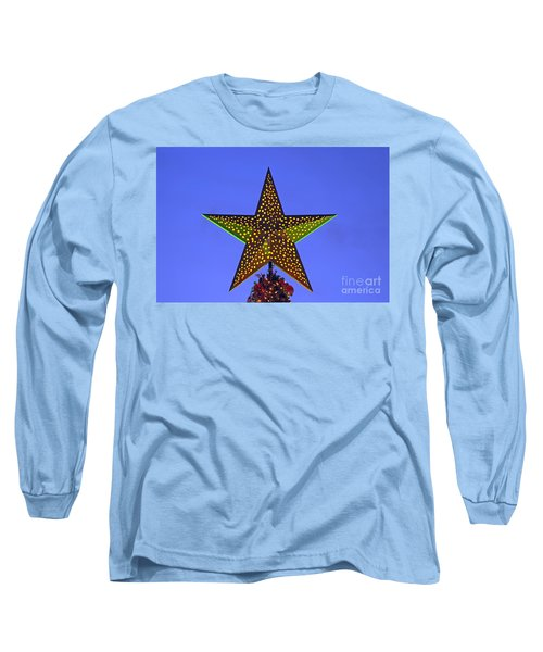 Long Sleeve T-Shirt featuring the photograph Christmas Star During Dusk Time by George Atsametakis