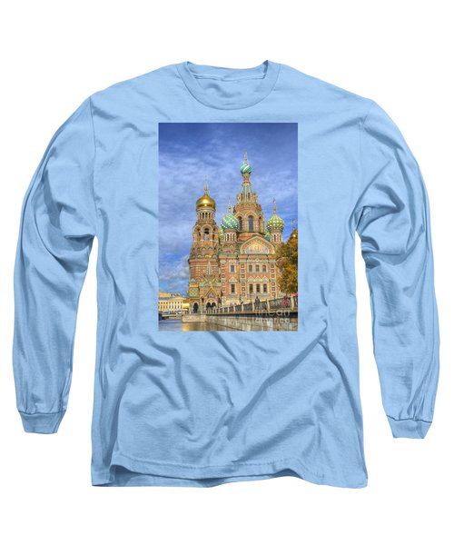 Church Of The Saviour On Spilled Blood. St. Petersburg. Russia Long Sleeve T-Shirt