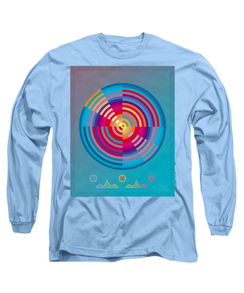 Long Sleeve T-Shirt featuring the painting Circles by David Klaboe